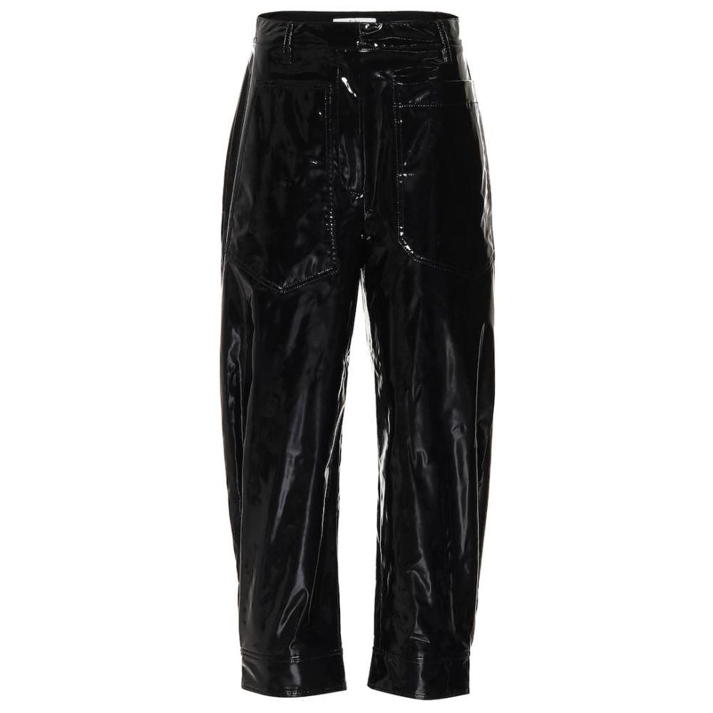 ティビ Tibi レディース ボトムス・パンツ 【Patent faux-leather pants】Black