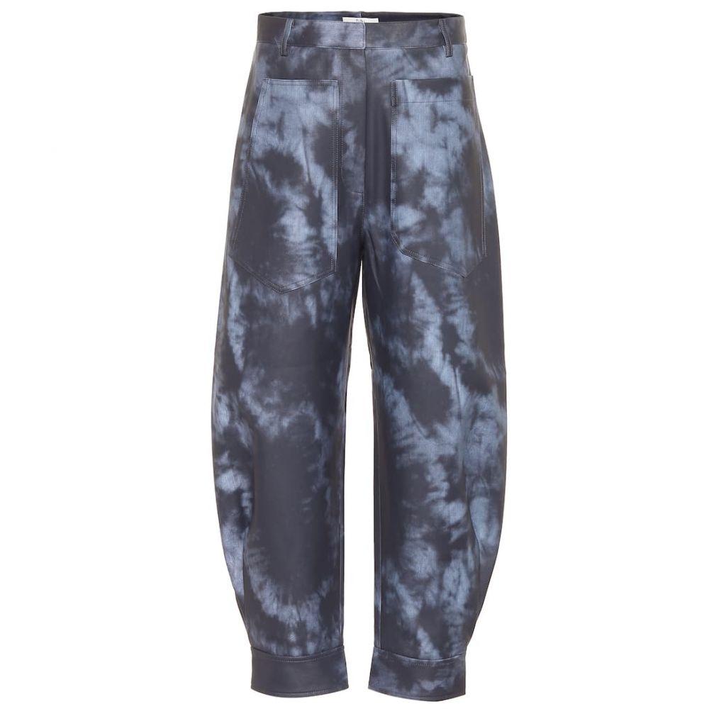 ティビ Tibi レディース ボトムス・パンツ 【Tie-dye coated pants】Navy Multi