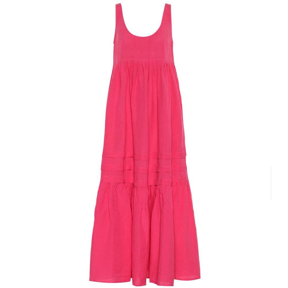 ソリッド&ストライプ Solid & Striped レディース ワンピース マキシ丈 ワンピース・ドレス【Linen-blend maxi dress】Honeysuckle Pink