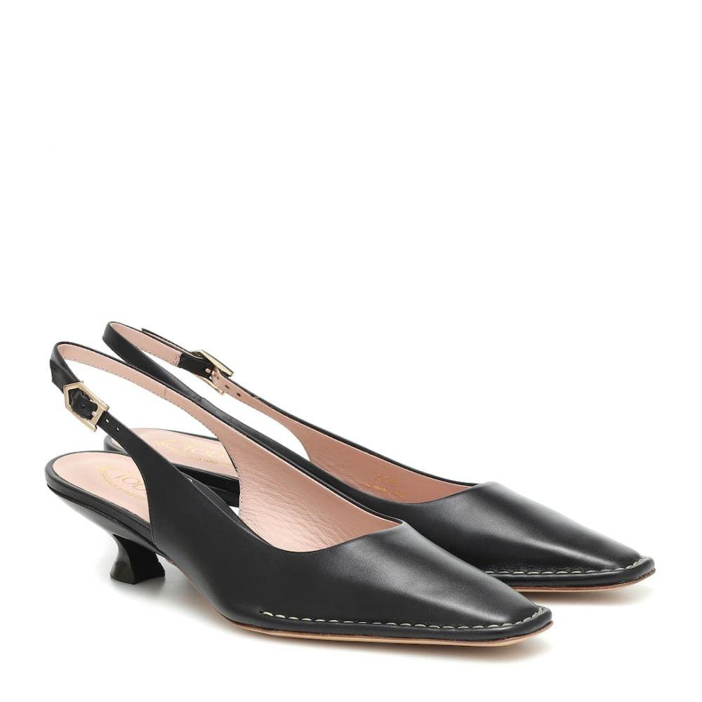 トッズ Tod's レディース パンプス シューズ・靴【Leather slingback pumps】Black