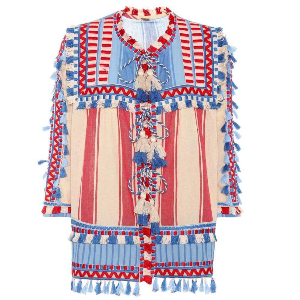 ドド バー オア Dodo Bar Or レディース ブラウス・シャツ トップス【Tasselled cotton gauze blouse】Blue/Red