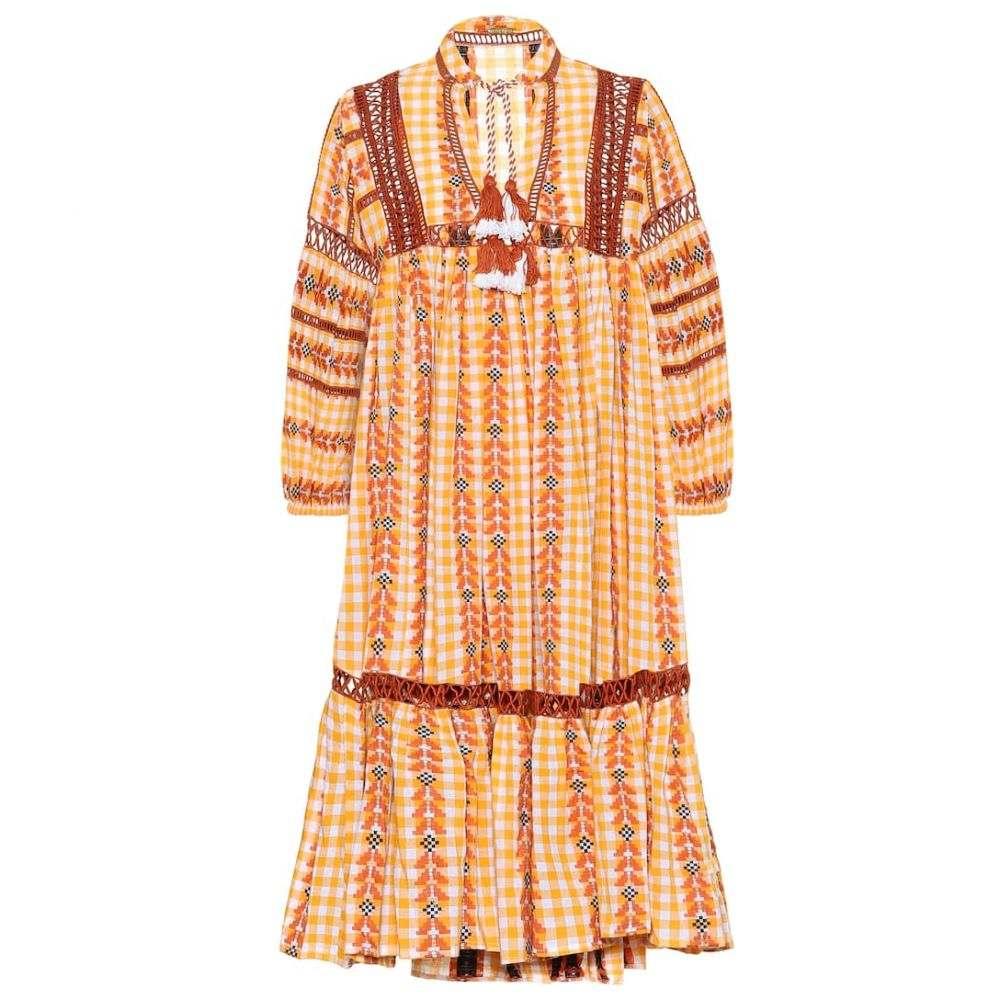 ドド バー オア Dodo Bar Or レディース ビーチウェア ワンピース・ドレス 水着・ビーチウェア【Embroidered printed cotton dress】Mustered