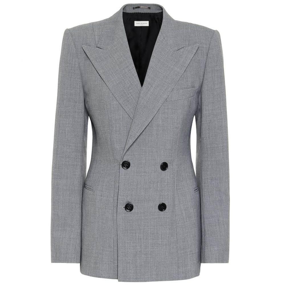 ドリス ヴァン ノッテン Dries Van Noten レディース スーツ・ジャケット アウター【Double-breasted blazer】Grey