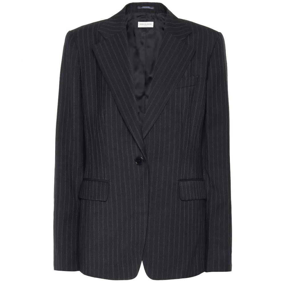ドリス ヴァン ノッテン Dries Van Noten レディース スーツ・ジャケット アウター【Striped wool-blend blazer】Navy