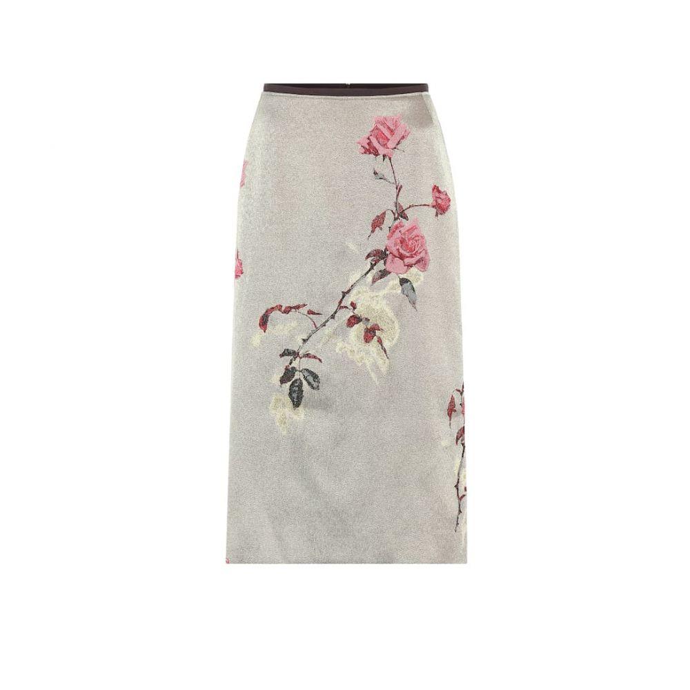 ドリス ヴァン ノッテン Dries Van Noten レディース スカート 【Floral-jacquard skirt】Gold