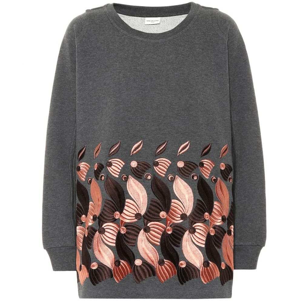 ドリス ヴァン ノッテン Dries Van Noten レディース ニット・セーター トップス【Embroidered cotton-jersey sweater】Grey