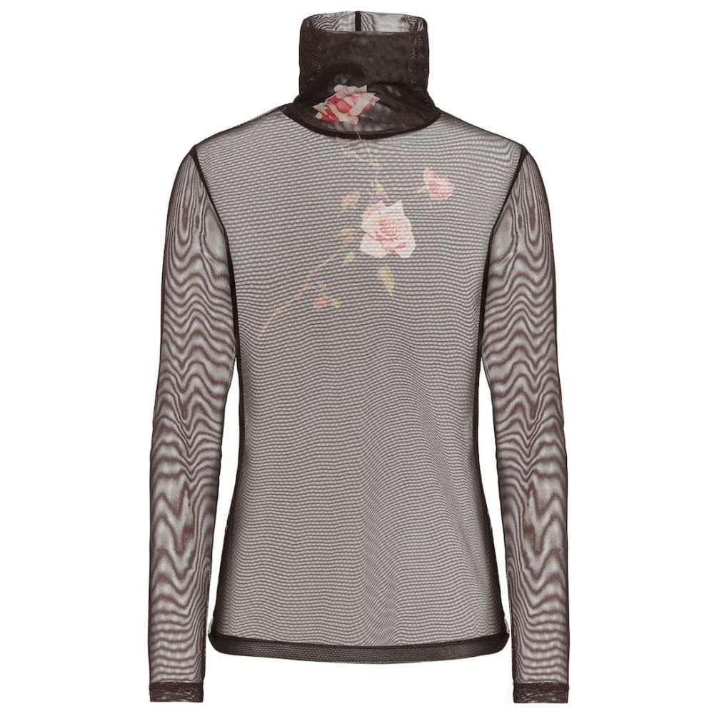 ドリス ヴァン ノッテン Dries Van Noten レディース トップス 【Floral mesh turtleneck top】Brown