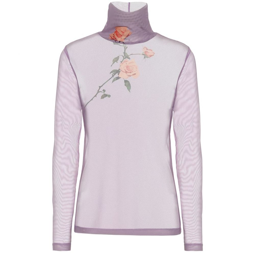 ドリス ヴァン ノッテン Dries Van Noten レディース トップス 【Floral mesh turtleneck top】Lilac