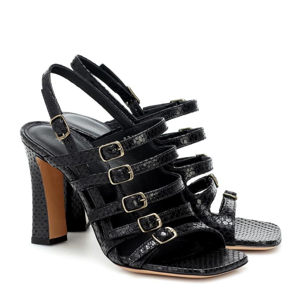 ドリス ヴァン ノッテン Dries Van Noten レディース サンダル・ミュール シューズ・靴【Snake-effect leather sandals】Black
