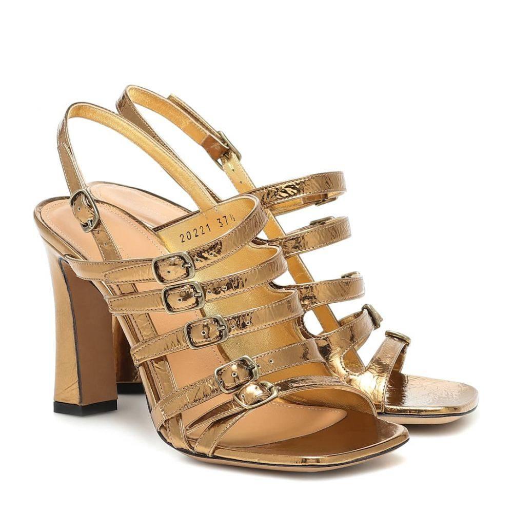 ドリス ヴァン ノッテン Dries Van Noten レディース サンダル・ミュール シューズ・靴【Metallic leather sandals】Gold