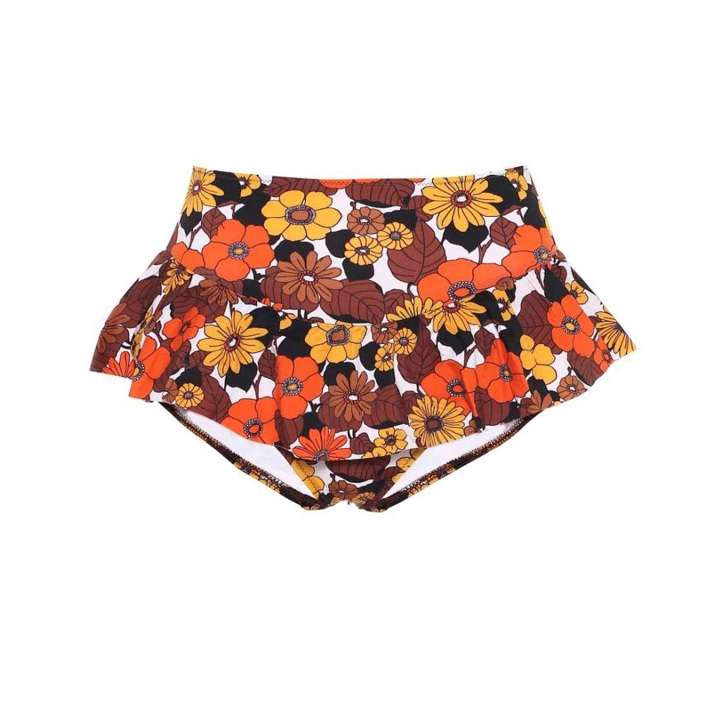 ドド バー オア Dodo Bar Or レディース ボトムのみ 水着・ビーチウェア【Floral high-rise bikini bottoms】Orange Brown
