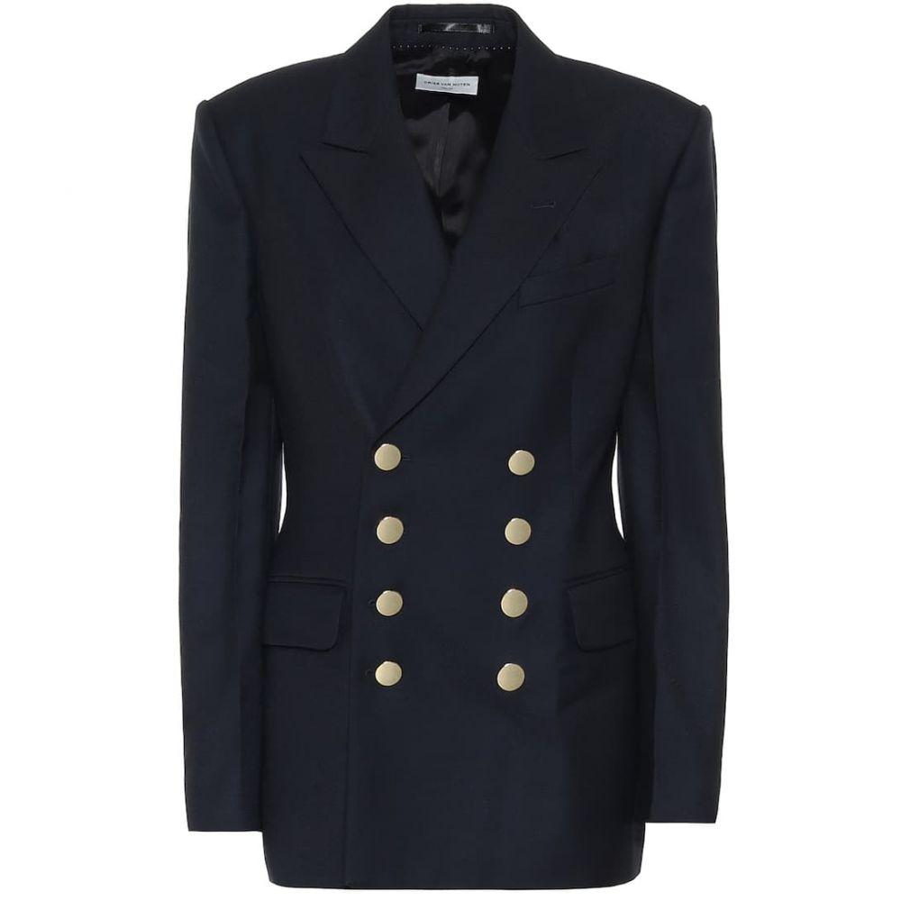 ドリス ヴァン ノッテン Dries Van Noten レディース スーツ・ジャケット アウター【Double-breasted wool blazer】Navy