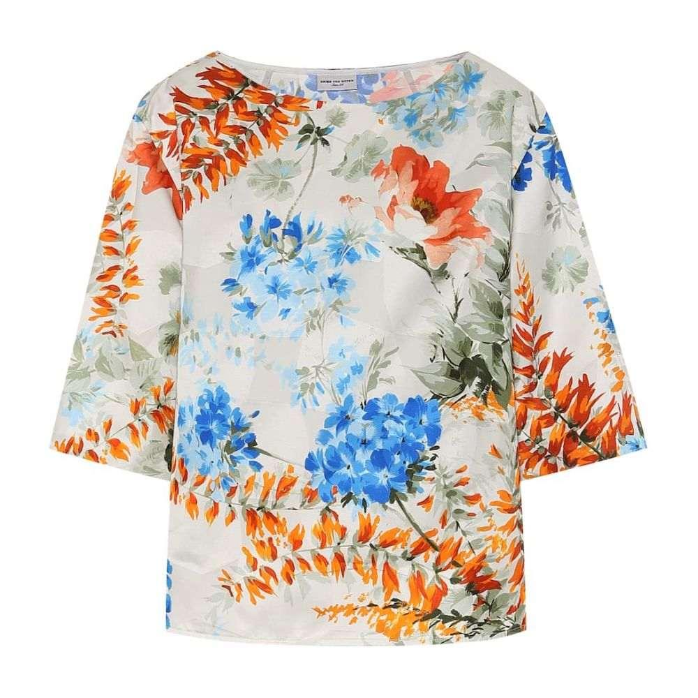 ドリス ヴァン ノッテン Dries Van Noten レディース トップス 【Floral-printed twill top】Ecru