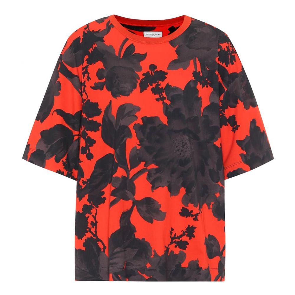 ドリス ヴァン ノッテン Dries Van Noten レディース Tシャツ トップス【Floral cotton T-shirt】Red