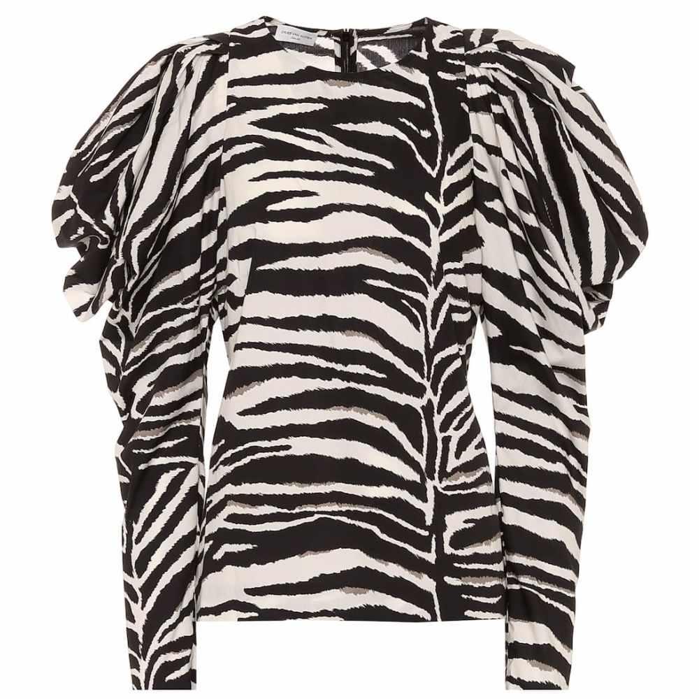 ドリス ヴァン ノッテン Dries Van Noten レディース トップス 【Zebra-print cotton top】Black
