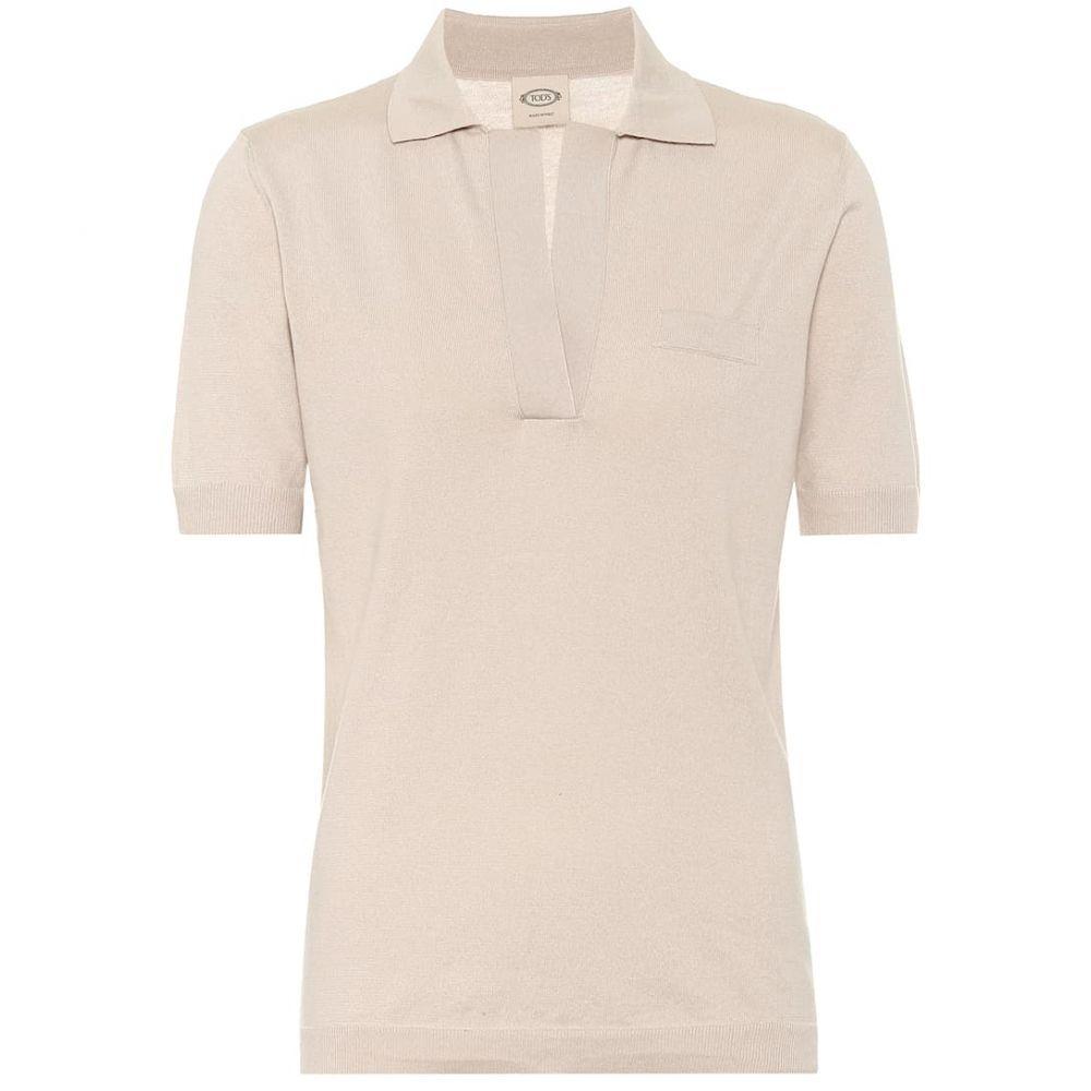 トッズ Tod's レディース ポロシャツ トップス【Cotton-knit polo shirt】Beige