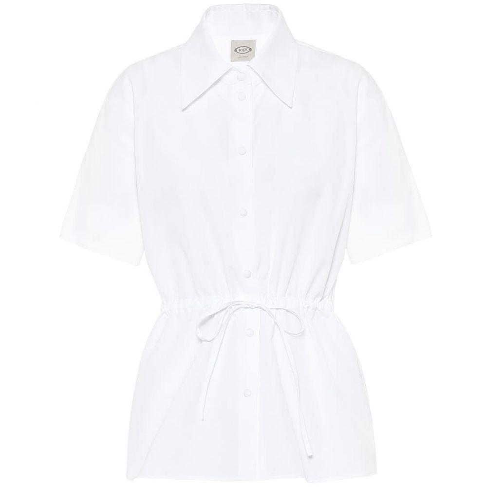 トッズ Tod's レディース ブラウス・シャツ トップス【Cotton poplin shirt】White