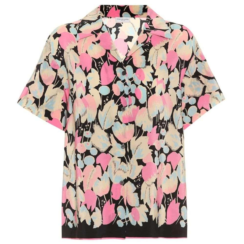 ドリス ヴァン ノッテン Dries Van Noten レディース ブラウス・シャツ トップス【Floral-printed silk shirt】Pink