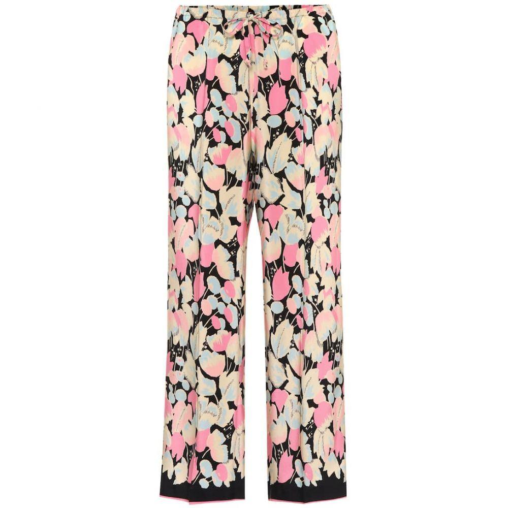 ドリス ヴァン ノッテン Dries Van Noten レディース ボトムス・パンツ 【Floral-printed silk trousers】Pink