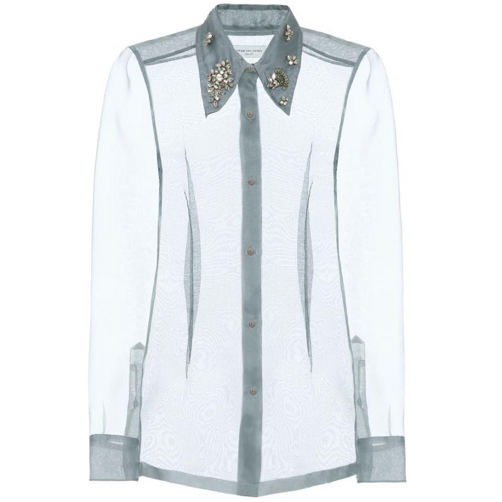ドリス ヴァン ノッテン Dries Van Noten レディース ブラウス・シャツ トップス【Embellished silk organza shirt】Light Blue