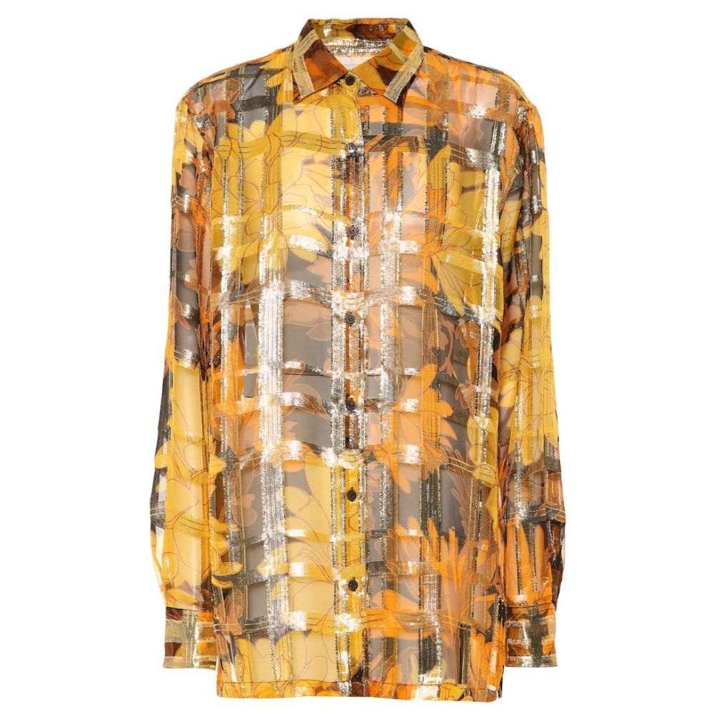ドリス ヴァン ノッテン Dries Van Noten レディース ブラウス・シャツ トップス【Metallic silk-blend shirt】Black