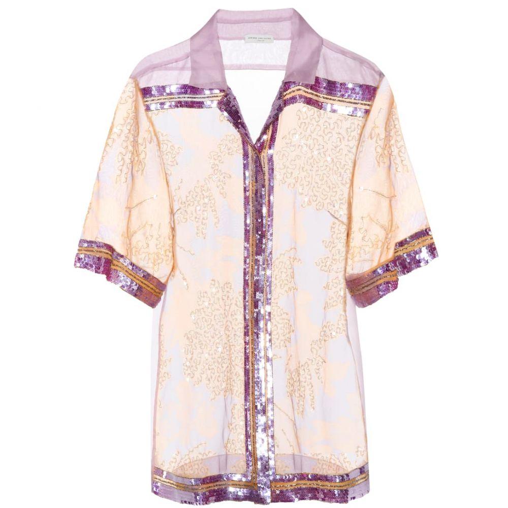 ドリス ヴァン ノッテン Dries Van Noten レディース ブラウス・シャツ トップス【Sequinned silk organza shirt】Lilac