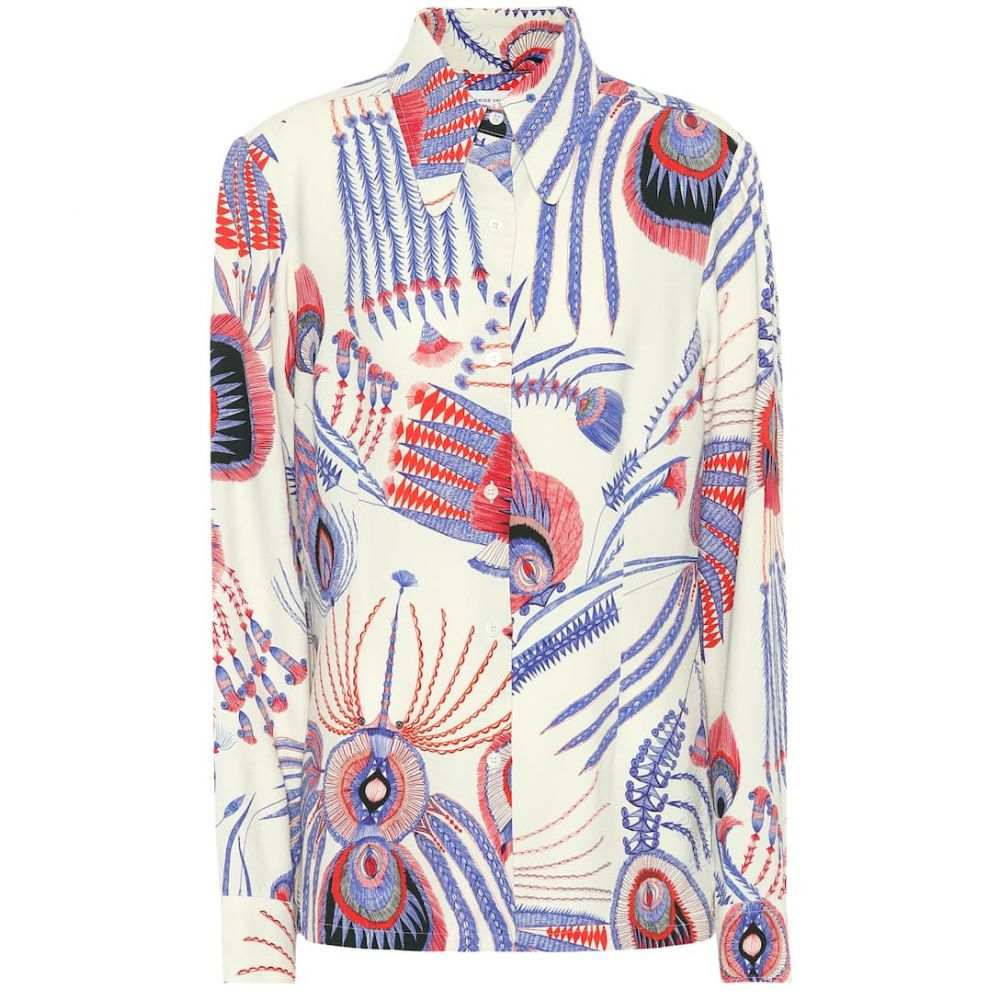ドリス ヴァン ノッテン Dries Van Noten レディース ブラウス・シャツ トップス【Printed crepe shirt】blue