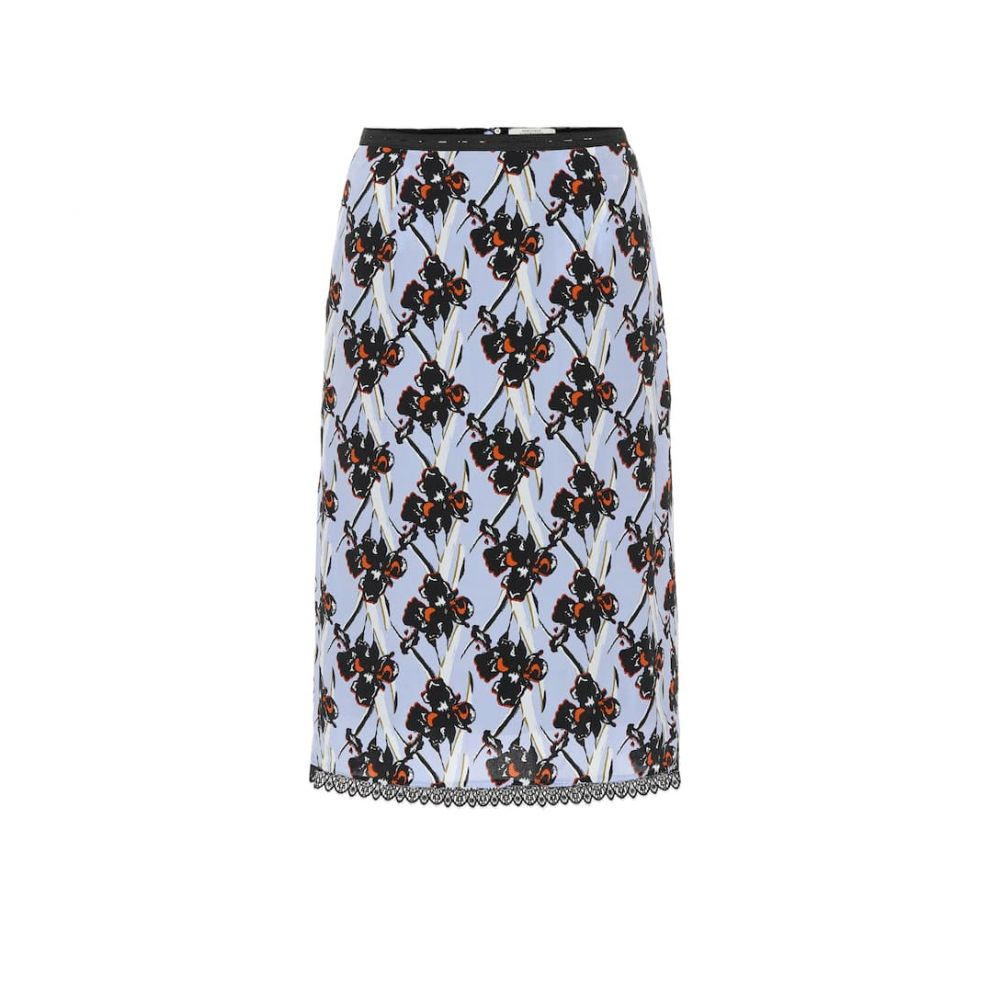 ドロシー シューマッハ Dorothee Schumacher レディース スカート 【Flower Breeze silk-blend skirt】Caribbean Blue Orchid