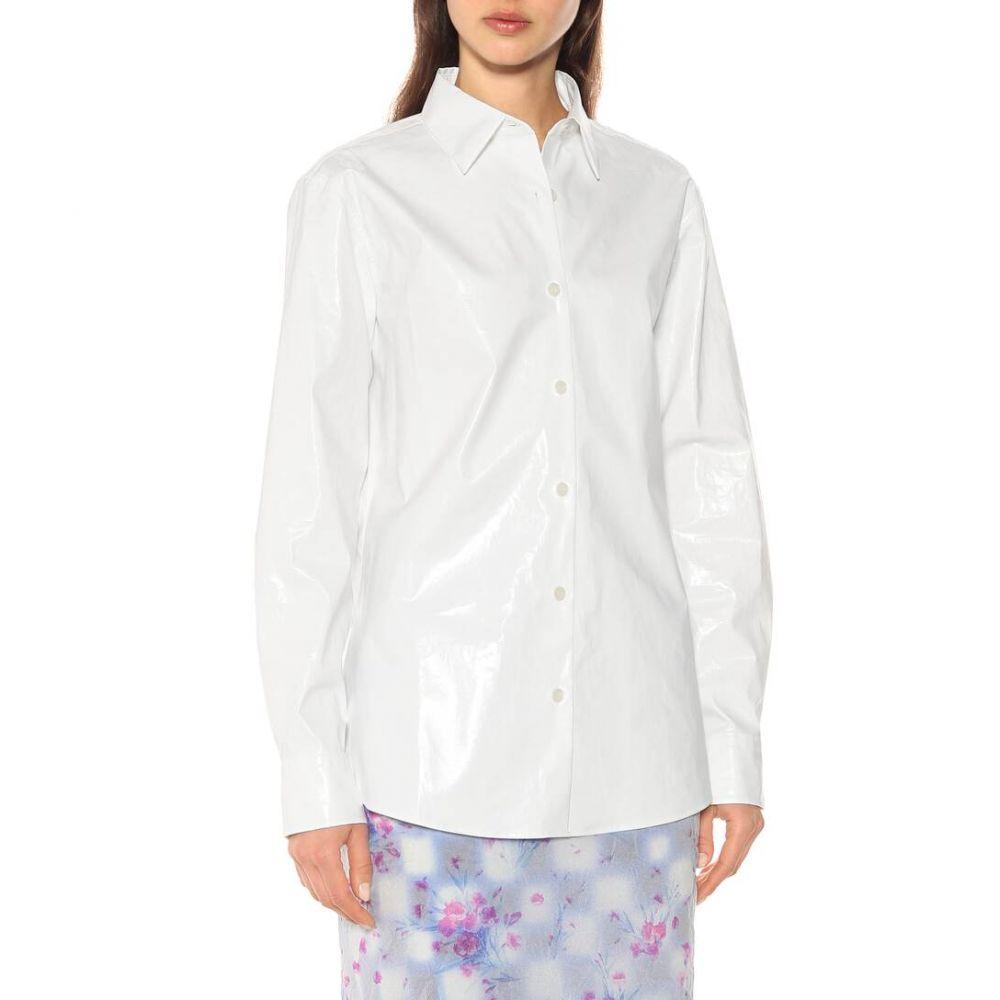 ドリス ヴァン ノッテン Dries Van Noten レディース ブラウス・シャツ トップス Cotton blend shirt whitepUMLVGqSz
