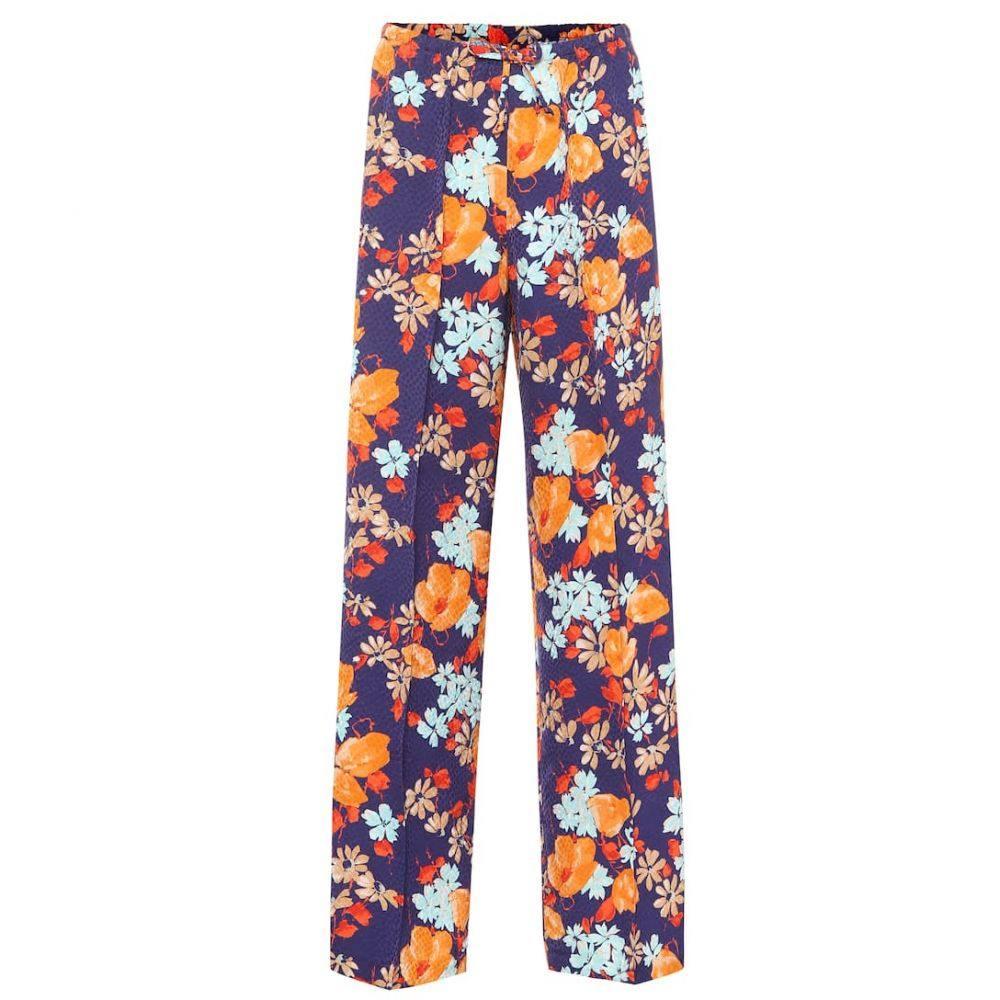 ドリス ヴァン ノッテン Dries Van Noten レディース ボトムス・パンツ 【Floral jacquard wide-leg pants】purple
