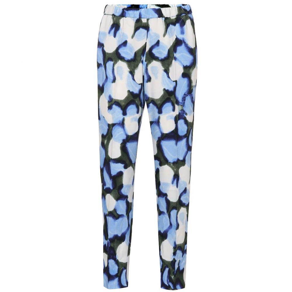 ドリス ヴァン ノッテン Dries Van Noten レディース ボトムス・パンツ 【Printed high-rise straight pants】blue