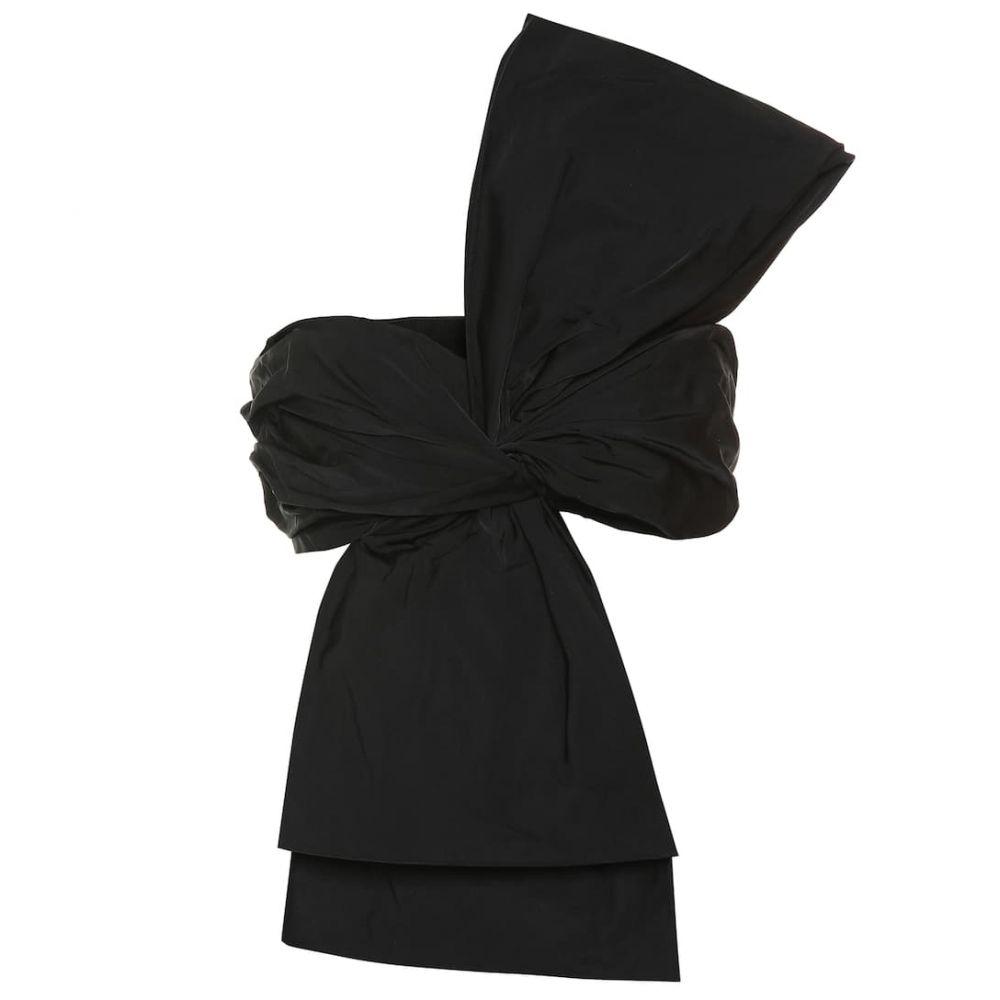ドリス ヴァン ノッテン Dries Van Noten レディース ベアトップ・チューブトップ・クロップド ビスチェ ワンショルダー トップス【One-shoulder silk-blend bustier】black