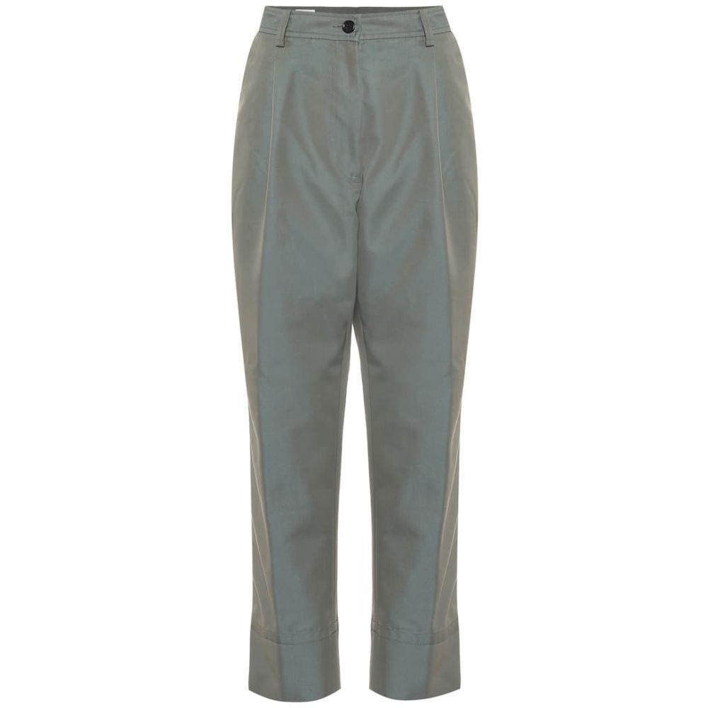 ドリス ヴァン ノッテン Dries Van Noten レディース ボトムス・パンツ 【Cotton-blend high-rise pants】Aqua