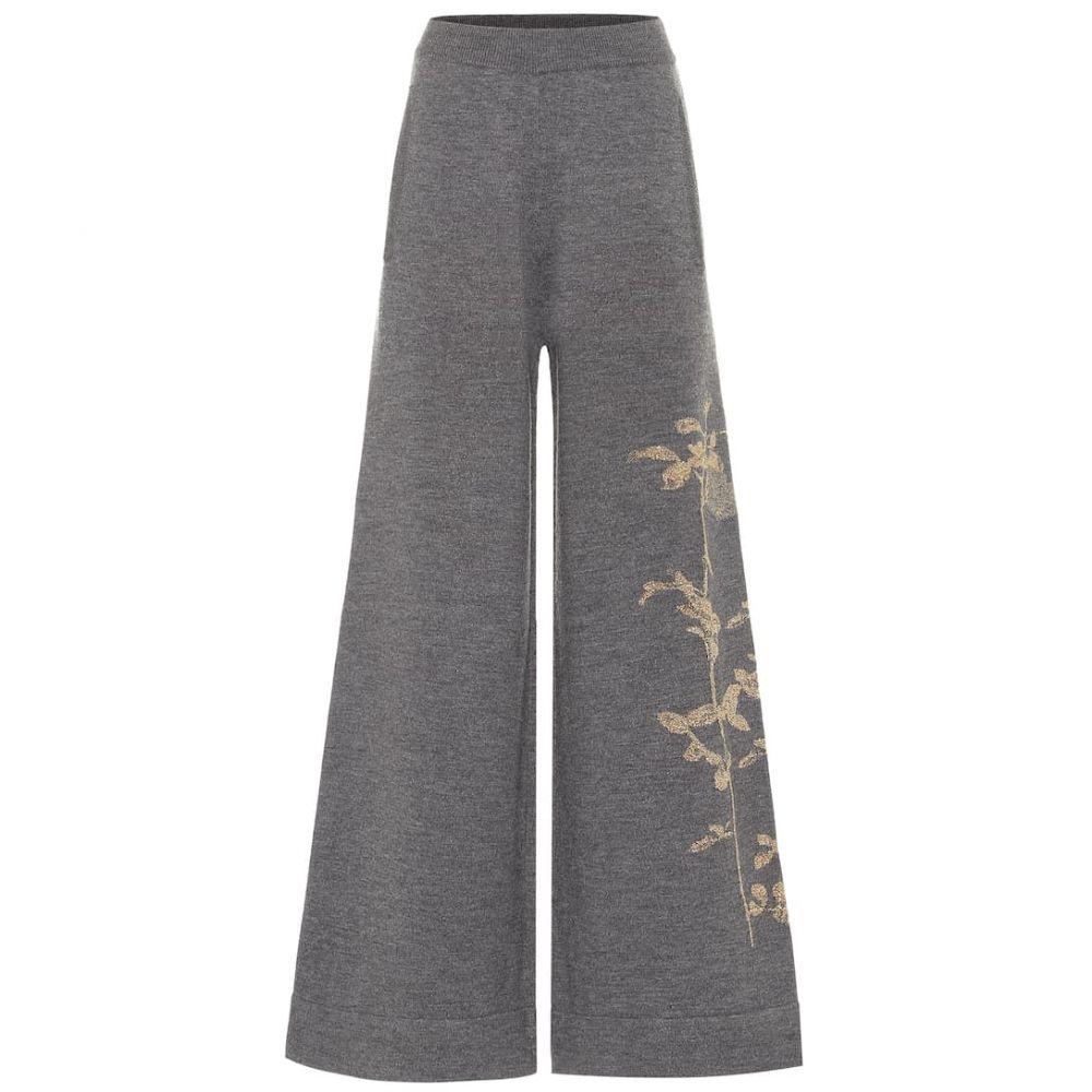 ドリス ヴァン ノッテン Dries Van Noten レディース ボトムス・パンツ 【Merino wool-blend wide-leg pants】Anthracite