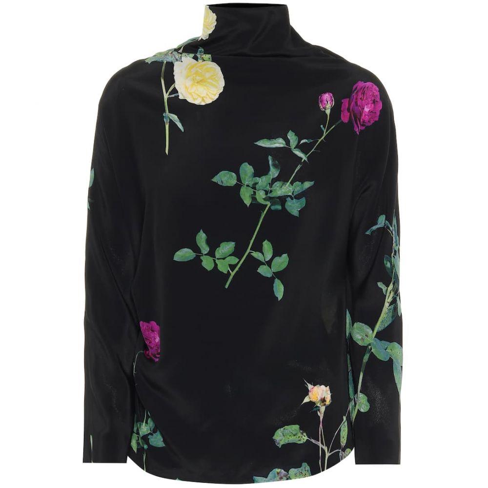 ドリス ヴァン ノッテン Dries Van Noten レディース ブラウス・シャツ トップス【Floral silk-chiffon blouse】Black