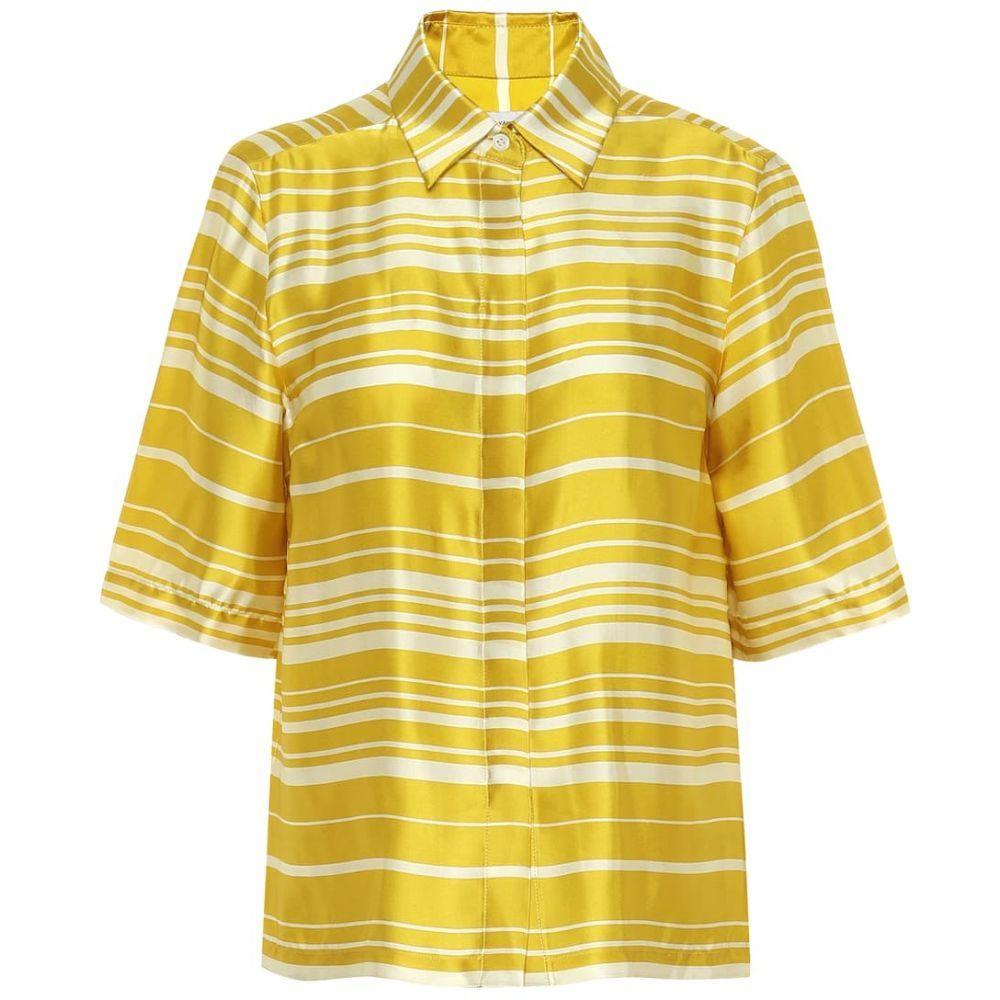 ドリス ヴァン ノッテン Dries Van Noten レディース ブラウス・シャツ トップス【Striped satin shirt】Yellow