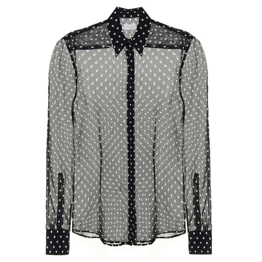 ドリス ヴァン ノッテン Dries Van Noten レディース ブラウス・シャツ トップス【Polka-dot silk blouse】Black