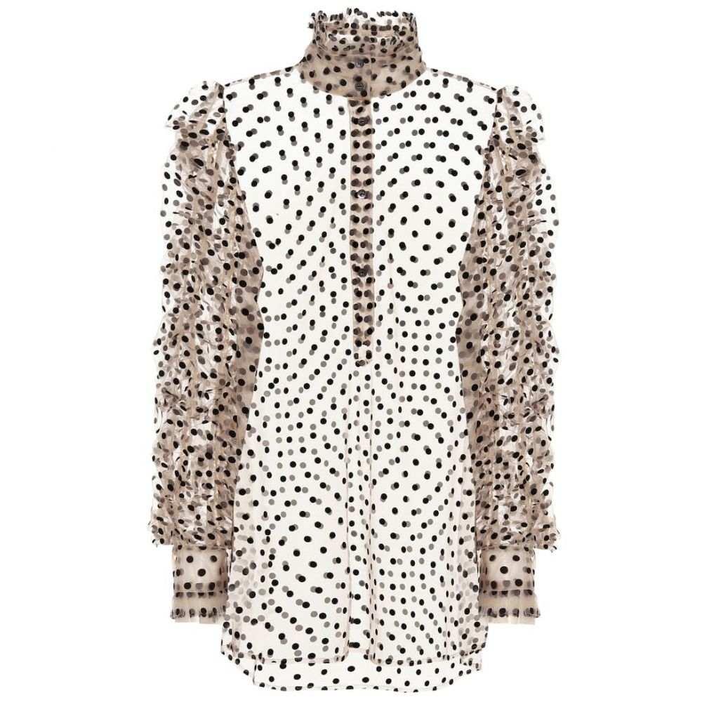 ドリス ヴァン ノッテン Dries Van Noten レディース ブラウス・シャツ トップス【Flocked tulle blouse】Black