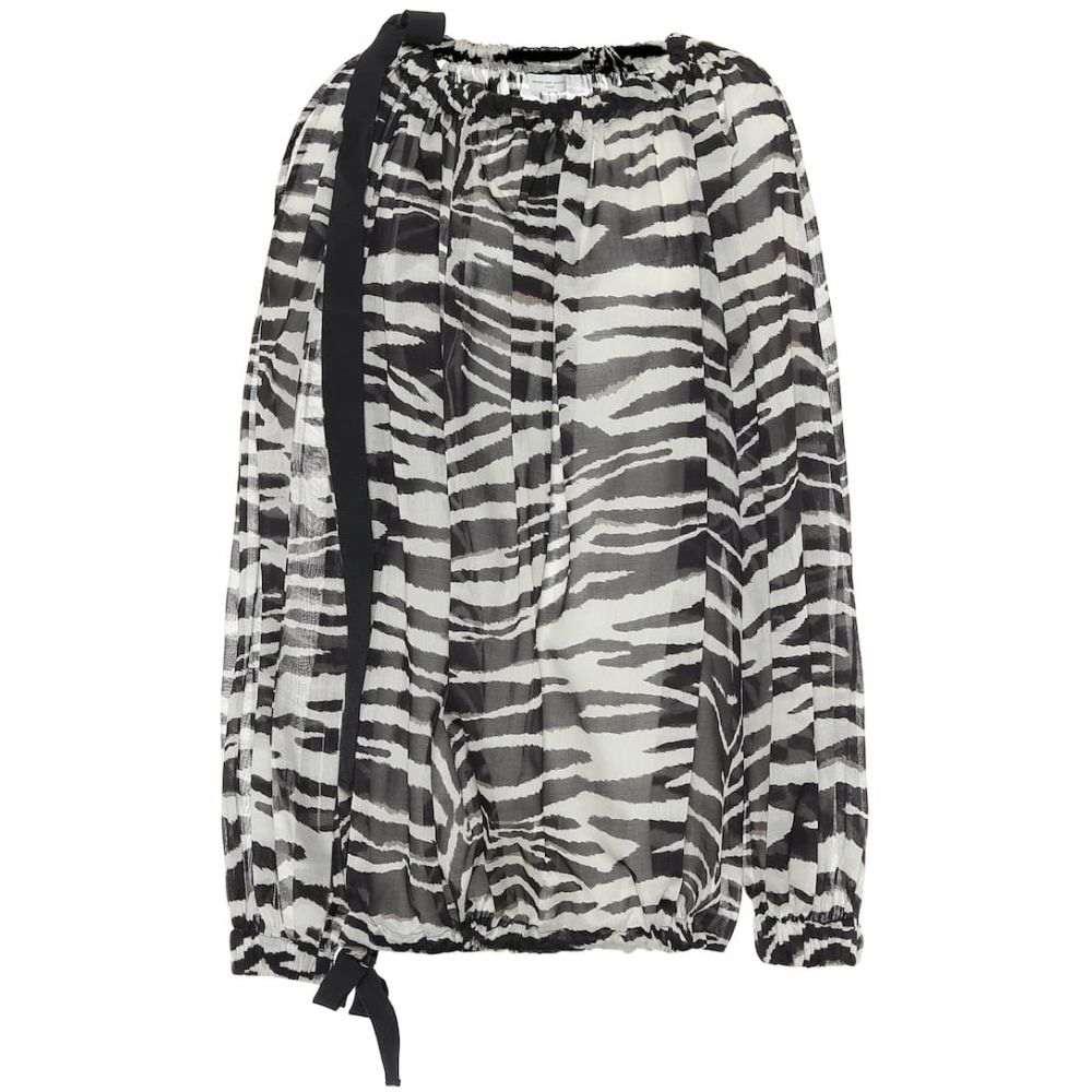 ドリス ヴァン ノッテン Dries Van Noten レディース ブラウス・シャツ トップス【Zebra-printed cotton blouse】Black
