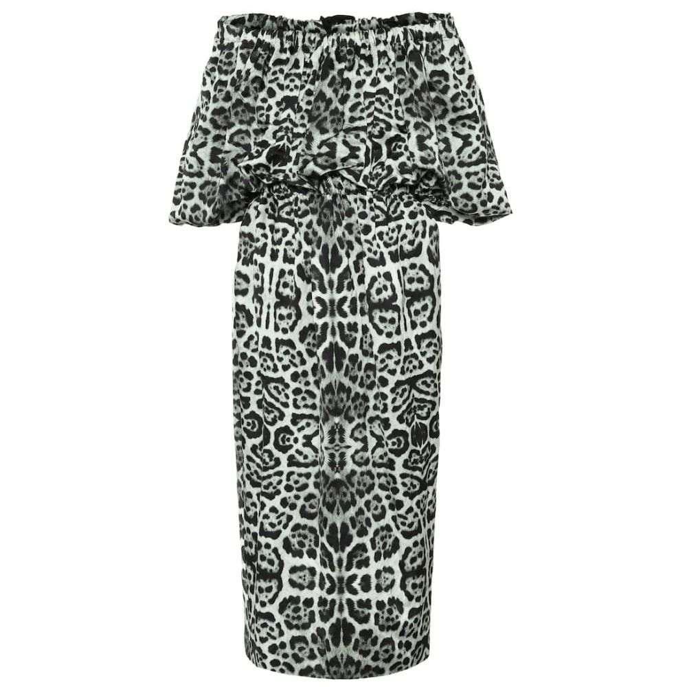 ドリス ヴァン ノッテン Dries Van Noten レディース ワンピース ミドル丈 ワンピース・ドレス【Leopard-print off-shoulder midi dress】Desb
