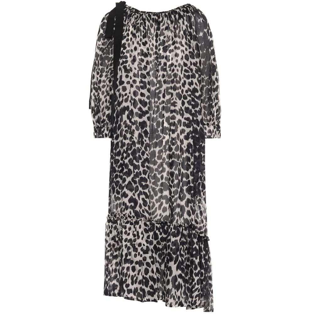 ドリス ヴァン ノッテン Dries Van Noten レディース ワンピース ミドル丈 ワンピース・ドレス【Leopard-print cotton midi dress】Black
