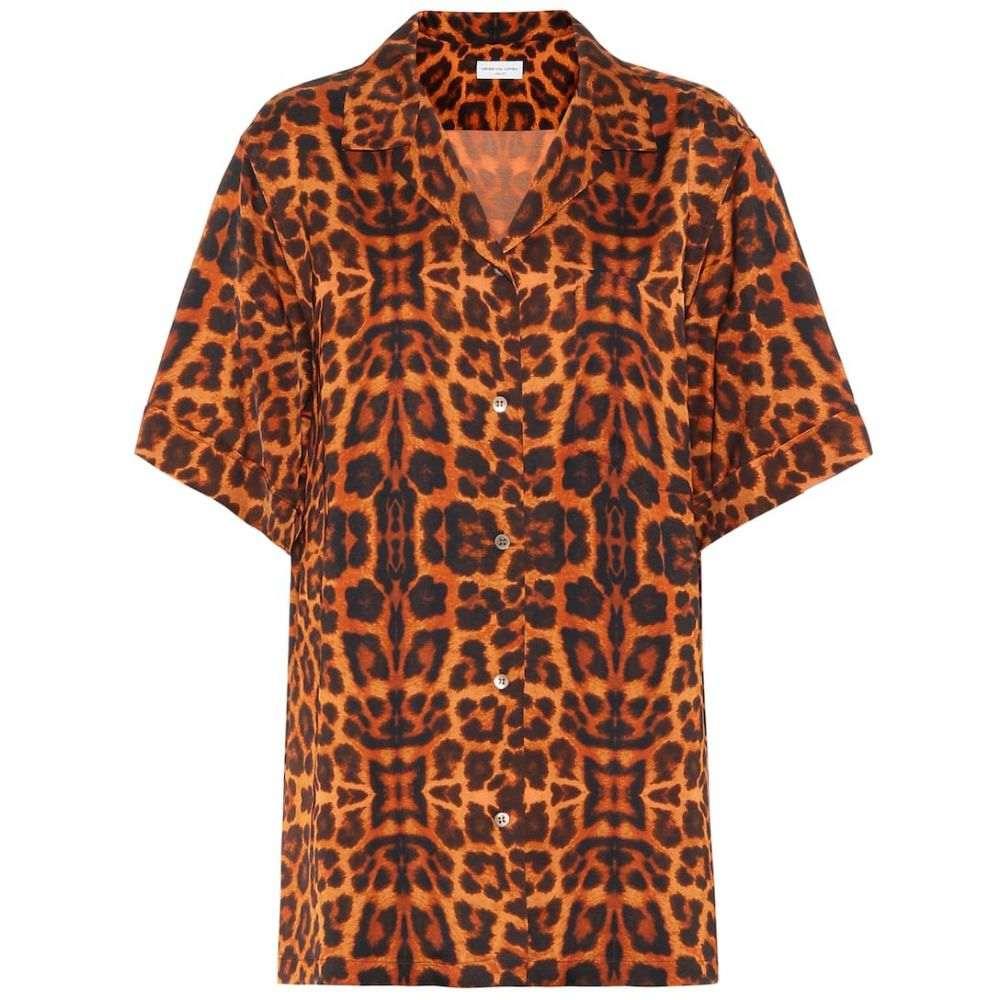 ドリス ヴァン ノッテン Dries Van Noten レディース ブラウス・シャツ トップス【Leopard-printed satin shirt】Rust