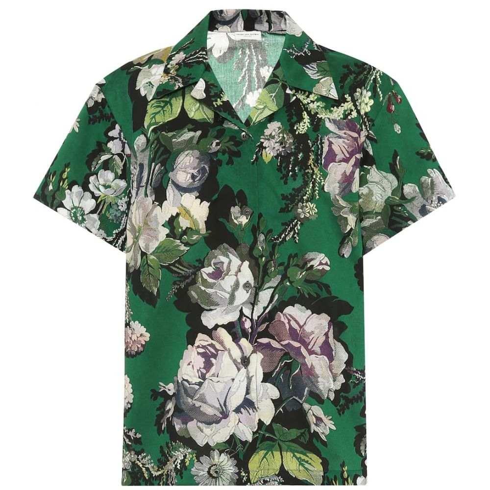 ドリス ヴァン ノッテン Dries Van Noten レディース ブラウス・シャツ トップス【Floral-printed cotton shirt】Green