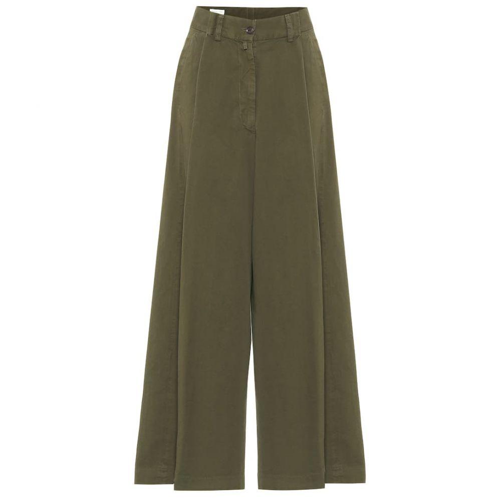 ドリス ヴァン ノッテン Dries Van Noten レディース ボトムス・パンツ 【Cotton-twill wide-leg pants】Kaki