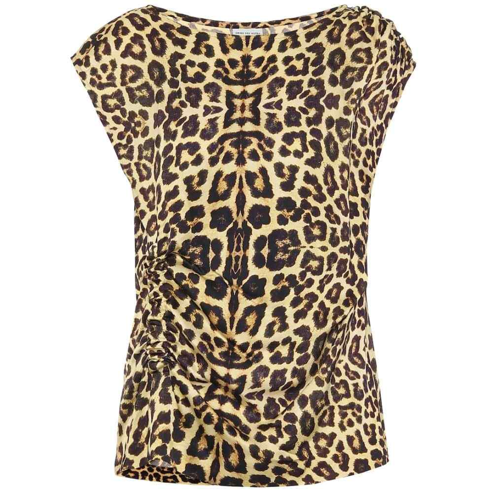 ドリス ヴァン ノッテン Dries Van Noten レディース ノースリーブ トップス【Leopard-print top】P.Yellow