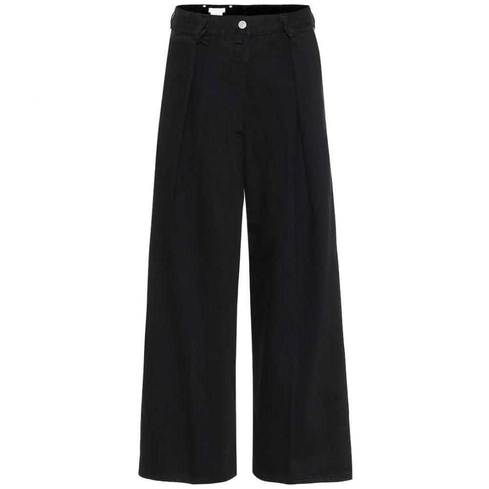 ドリス ヴァン ノッテン Dries Van Noten レディース ジーンズ・デニム ボトムス・パンツ【High-rise wide-leg cropped jeans】Black