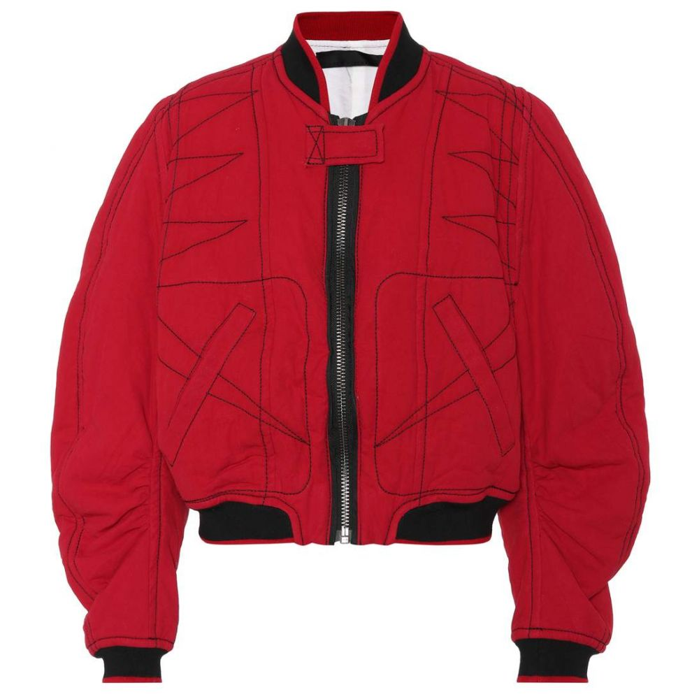 ハイダー アッカーマン Haider Ackermann レディース ブルゾン ミリタリージャケット アウター【Cotton twill bomber jacket】Red