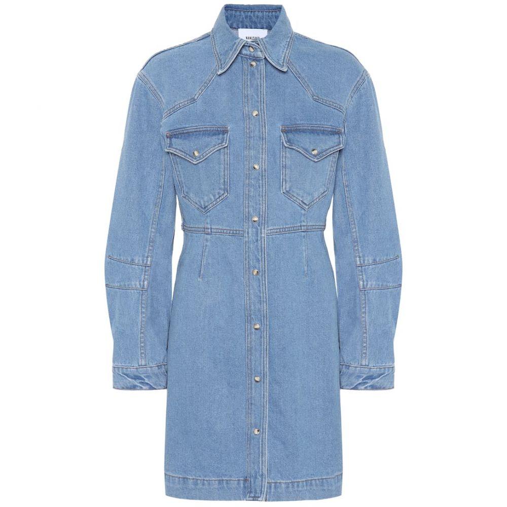 ナヌシュカ Nanushka レディース ワンピース デニム シャツワンピース ワンピース・ドレス【Vilma denim shirt dress】's Blue
