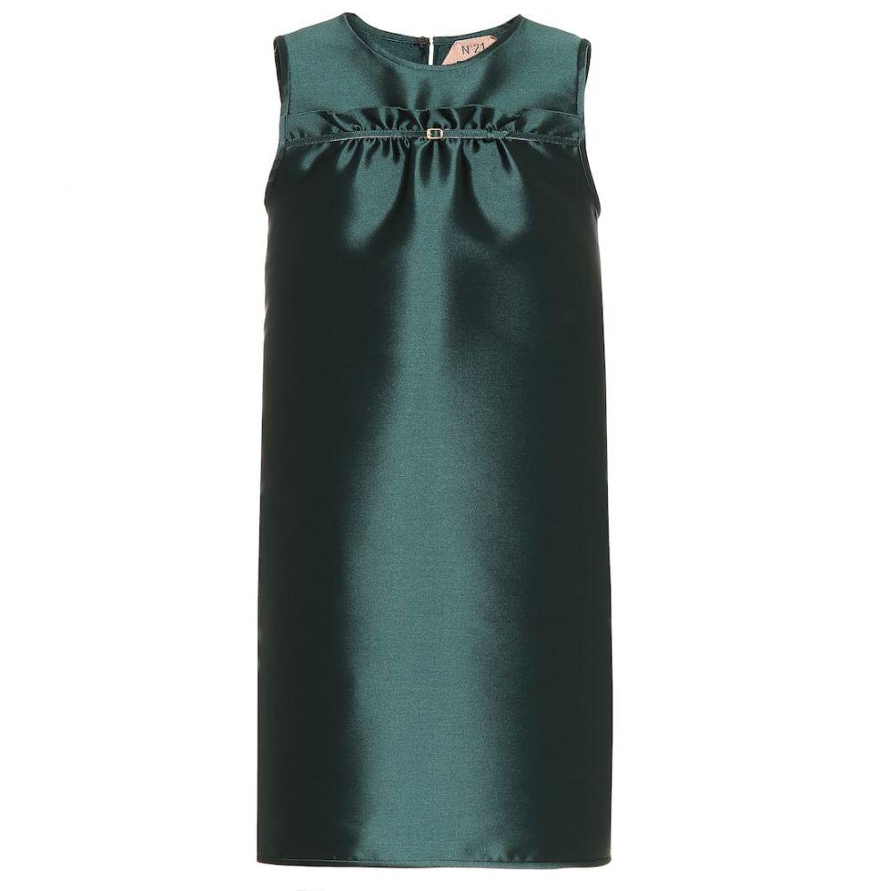 ヌメロ ヴェントゥーノ N21 レディース ワンピース ワンピース・ドレス【Satin twill minidress】Foresta