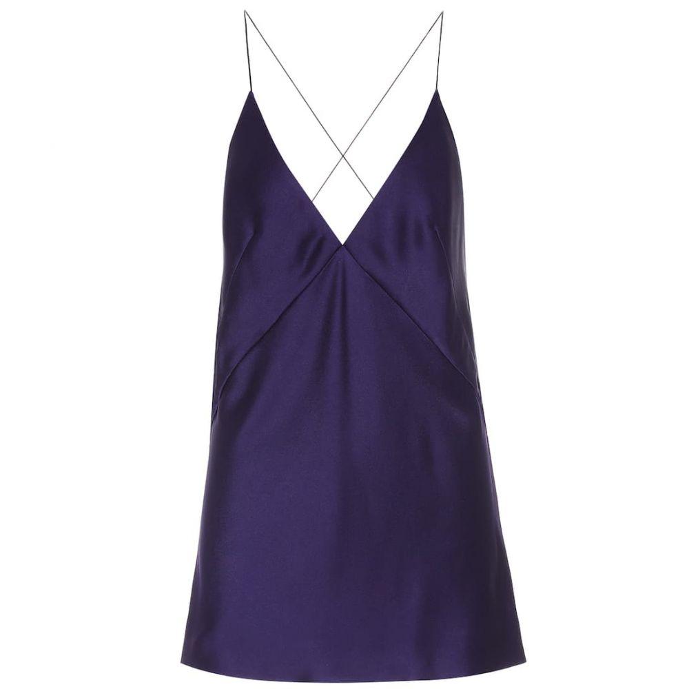 ハイダー アッカーマン Haider Ackermann レディース スリップ・キャミソール インナー・下着【Satin camisole】Kuiper Purple/Plum